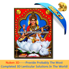 India god wall hanging decoration, 3D image effect lenticular poster