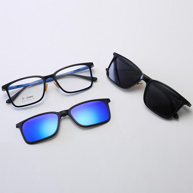 9a64a7d0623 Las mujeres de los hombres gafas de lectura de luz plana espejo doble de  succión magnética