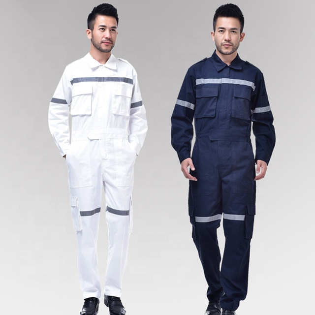 One Piece Service Safety Work Uniform Coverall With China Tape