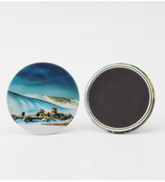 Refrigerator custom metal tin bucks round fridge magnet