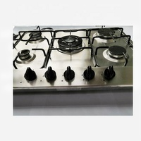 5 burner steel surface household gas stove factory direct sales With power line 220V