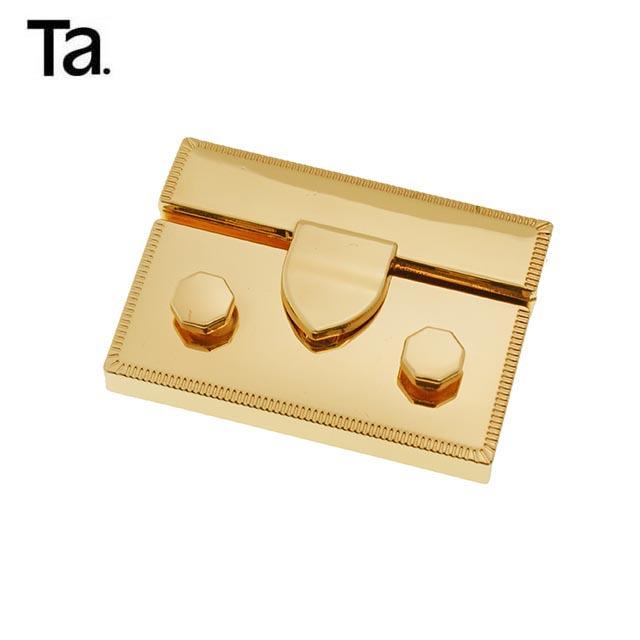 TANAI новый стиль квадратная Модная Золотая женская кожаная сумка с металлическим врезным замком аксессуары замок для сумки
