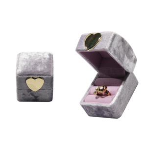 China Manufacture New Design Cheap ring boxVelvet Plastic Gift Box