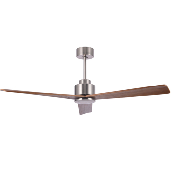 New Arrival Popular Thin Wood Blade Ceiling Fan for European market Satin Nickel Electric Ceiling Fan with CE ROHS Certification