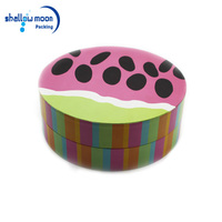 Romantic round cardboard flower storage box with a lid for flower
