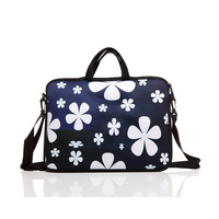 3mm neoprene laptop bag with zipper flower print waterproof notbook sleeve business men women shoulder bag