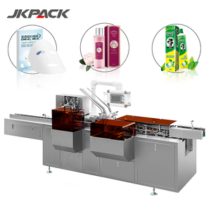 Automatic unfolding wrap around bulb corrugate face mask packer gluer milk packaging carton box labeling Packing making Machine