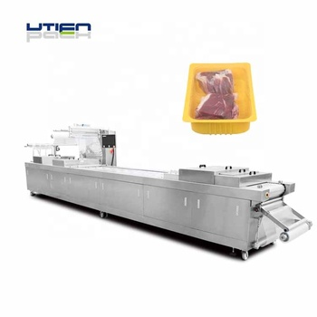 Smoked filet meat vacuum thermoforming packaging machine