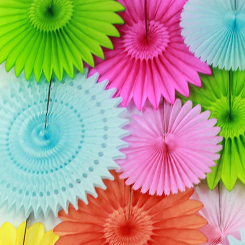 Diy Party Decor Ideas Paper Fan Backdrop Paper Hanging Fans For