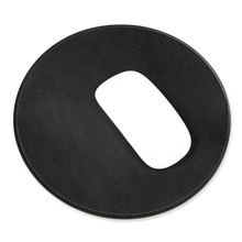 홈/Office black pu leather 빈 키 빈 무선 mouse pad round