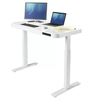 2019 New Design Tempered Glass Stand Desk 8mm Tempered Glass Electric Desk