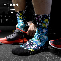 MEIKAN High Quality Anti-Bacterial Breathable Diabetic Sox Sports Socks Sublimation Printing Socks