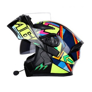 Cheap modular flip up motorcycle helmet with bluetooth