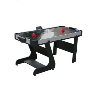 5ft folding Electronic Scoring Air Hockey Table with Pushers & Pucks, Black Playfield