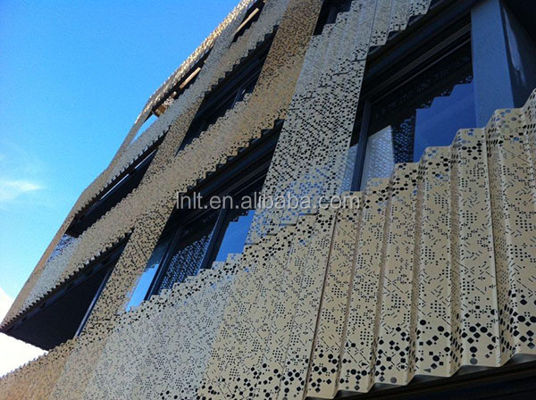 Outdoor Building Cladding Decorative Aluminum Sheet Metal