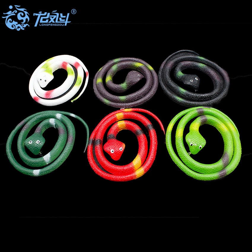 Soft Simulation Cobras snake Toys Tricky Funny Spoof props Toys For Halloween Party 5190402-21