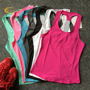 Ecoach high quality Burnout Slub Racer Back Active Workout gym fitness women tank tops