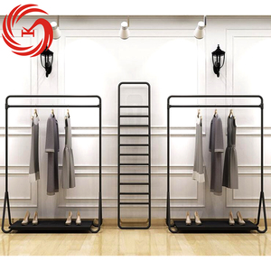 Modern clothing display racks metal clothing shelf retail clothing store furniture