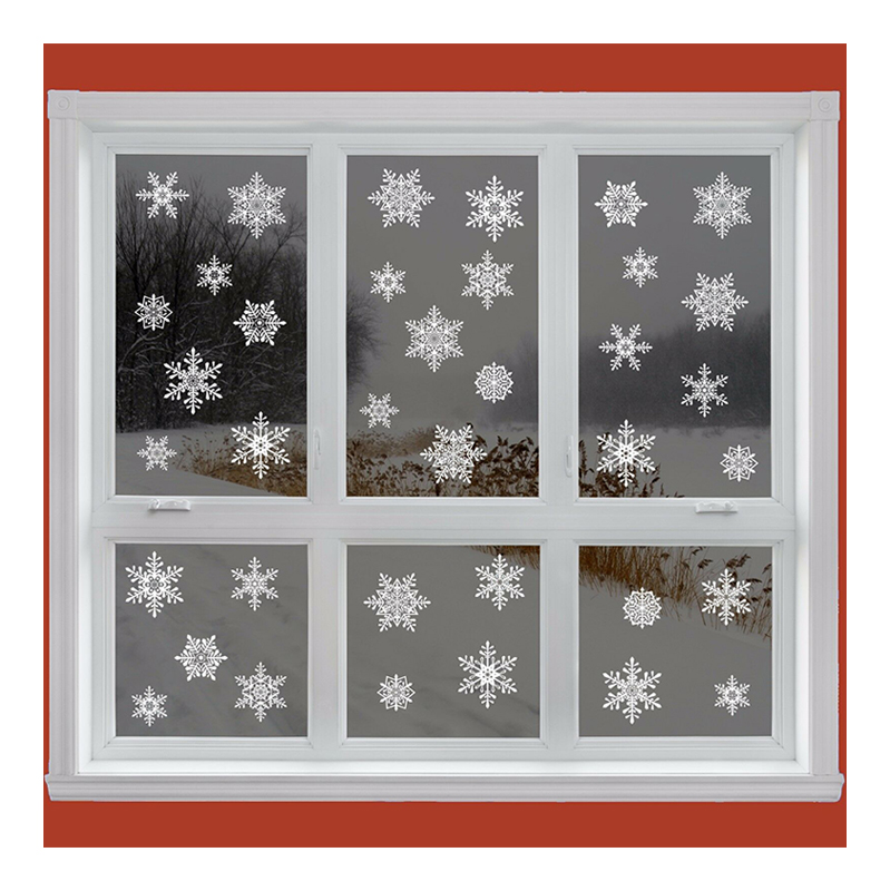 как украсить окна снежинками картинки присели