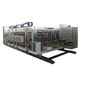 Fully Auto Pizza Box Corrugated Carton Flexo Printing Slotting Die Cutting Machine
