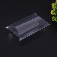 Guangzhou supply transparent PP PET PVC plastic packaging box custom pillow shape clear plastic box
