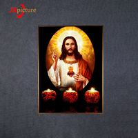 Religion Design LED Light Wall Hanging Canvas Print Painting Wall Decor Art Canvas Frame