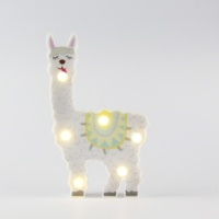 Battery Operated Llama LED Night Light for Birthday Gift,Nursery Room, Kids Bedroom, Christmas Decorations