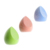 Customized Packaging Box Microfiber Velvet Waterdrop Two Cut Shaped Blue Pink Green Makeup Cosmetic Sponge Puffs