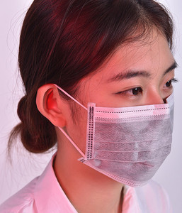 Disposable Non-woven 4ply Active carbon filter Medical Surgical black Face mask