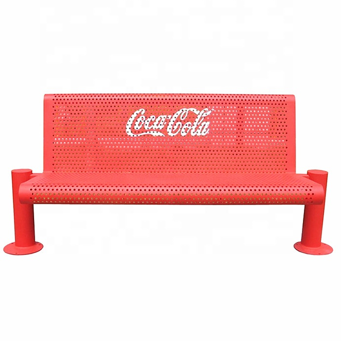 Advertising bench outdoor bench with back outdoor waterproof benches