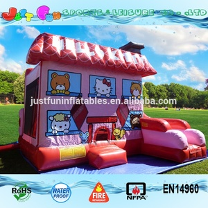 Cheap hello kitty inflatable bouncer for kids customized baby inflatable commercial bouncer