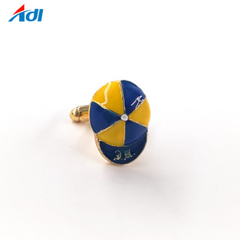 Wholesale enamel hat man design cufflinks for mens shirts