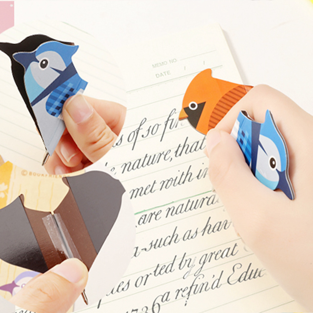 Promotionele Souvenir Vogels & Pen Nieuwe Geschenken van Papier Bookmark Pagina Student Stationery School Office Supply