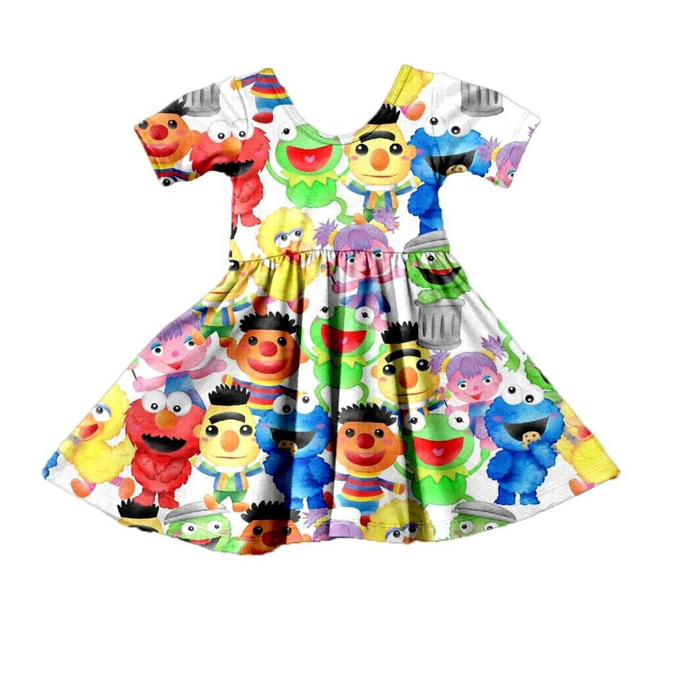 Dropshipping OEM/ODM Cartoon Children dresses <strong>kids</strong> <strong>fashion</strong> designs toddler girls dress