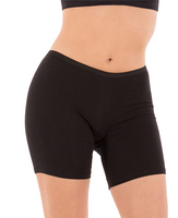 "Women's Regular & Plus Size Stretch Cotton Long Leg 6.5"" Boyshort Briefs"