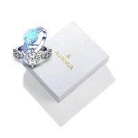 High quality ring necklace display custom logo printed luxury small portable recycled mini paper jewelry set gift packaging box