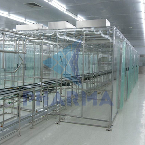 cleanroom booth with AC unit temperature and humidity control