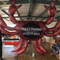 Giant custom inflatable sea animal,Hot sale giant inflatable red crab model for advertising