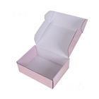 Custom pink Flat Gift storage kraft carton Packaging clear Paper Folding Box for Clothing shoes