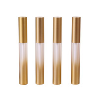 P-lan Wholesale Plastic 3ml Matte Gold Black Lip Gloss Container