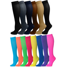 En gros <span class=keywords><strong>compression</strong></span> cyclisme solide couleur Miracle longueur genou chaussettes collants style