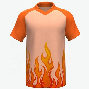 2019 fire design V-neck short sleeve tshirt for men