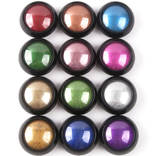 2019 Nieuwste 12 kleuren Gel Coating Magic Shining Spiegel Effect titanium Nail chrome polish <span class=keywords><strong>Poeder</strong></span>