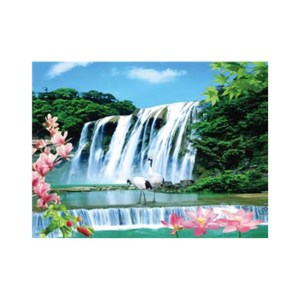 3d art image waterfall lenticular picture for home decoration