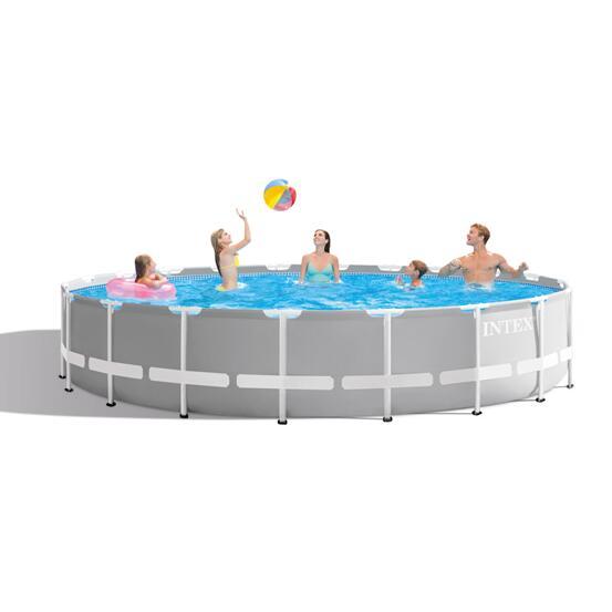 Details zu INTEX Prism Frame Oval Swimming Pool 610x305x122 cm Schwimmbecken 26798