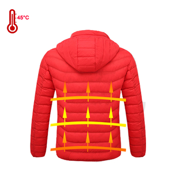 Winter warm graphene heated clothing jacket thermal for men