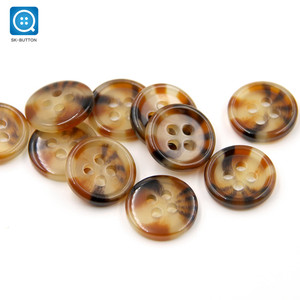 SK Wholesale China button supplier 4 holes sewing resin custom polyester shirt buttons for clothes