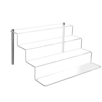 4 layers clear plexiglass buffet food racks acrylic cupcake display riser with custom size