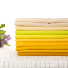 Yellow color smooth touch knit stock 95 cotton 5 spandex fabric