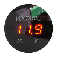 DC 5-48V Auto Car Waterproof Panel Meter Digital Voltmeter With Red Blue Green LED